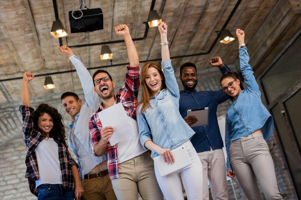 People Celebrating - Online Mastery